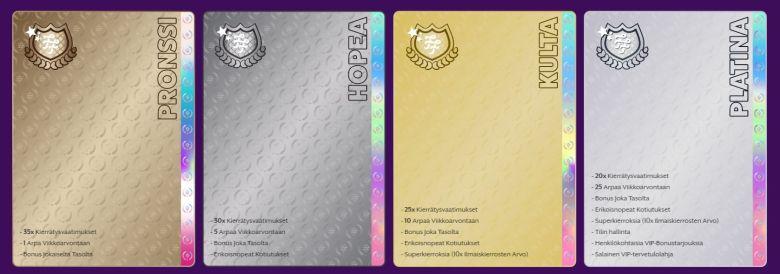 VIP-klubin perinteiset tasot
