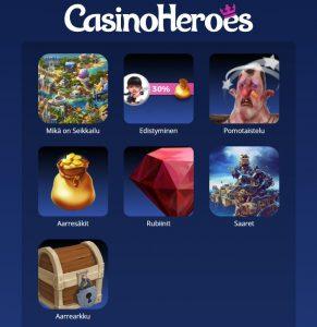 Casino Heroesin seikkailut